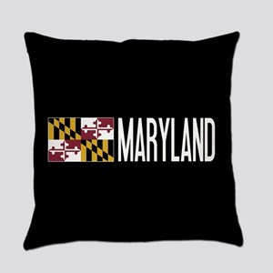Maryland: Marylander Flag & Maryla Everyday Pillow